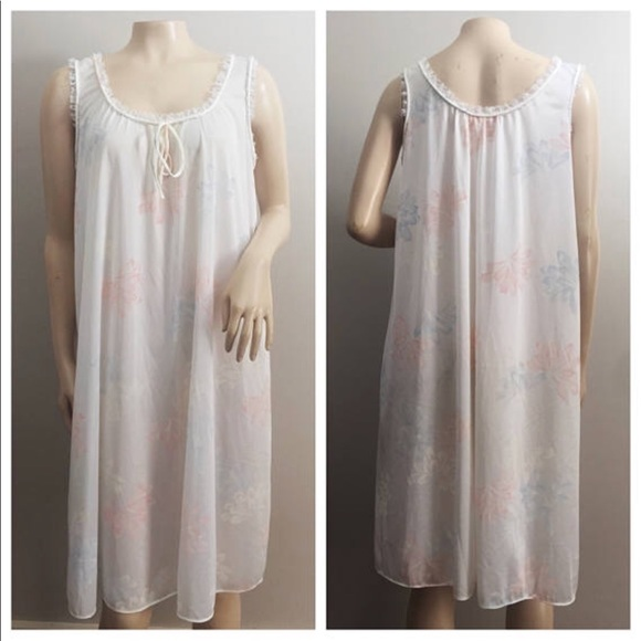 1960s Mini Floral Print Nightgown